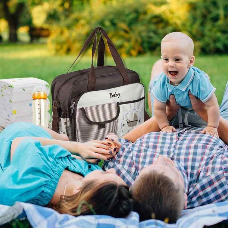 Wodoodporny duża pojemność torba na pieluchy mumia torba na ramię torebka macierzyński torba macierzyńska