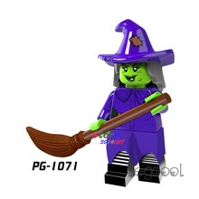 1PCS model building blocks action superheroes Witch Halloween Doll party series diy toys for children gift(China)
