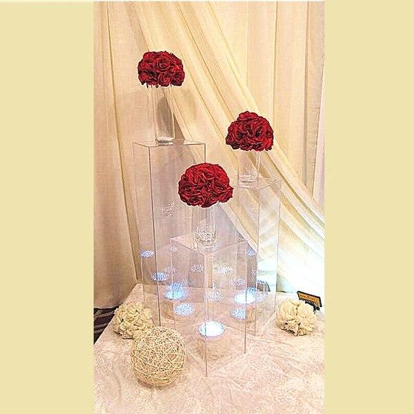 Fleur extérieure se dresse centres de mariage fleur acrylique Stand fenêtre artisanat affichage allée route conduit mariage fleurs décor