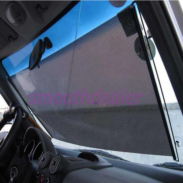 Black Car Auto Window Roll Blind Sunshade Windshield Sun Shield Visor 58  x125cm b89005fbaa1