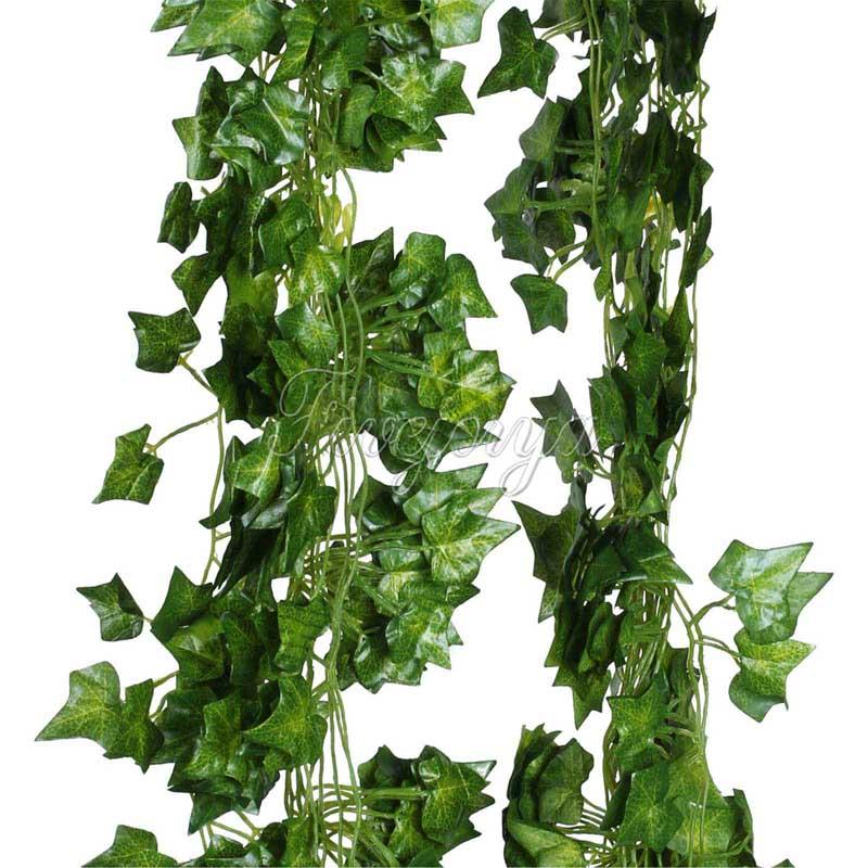 5pcs lot artificial sleaf ivy leaf garland plants vine fake foliage flowers wedding home - House plants vines ...