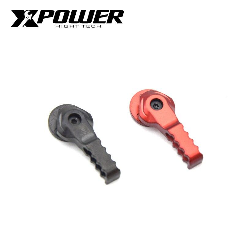XPOWER mejorado seguridad aluminio Alavanca Selector de palanca conjunto de interruptores para Airsoft AEG Paintball Accesorios