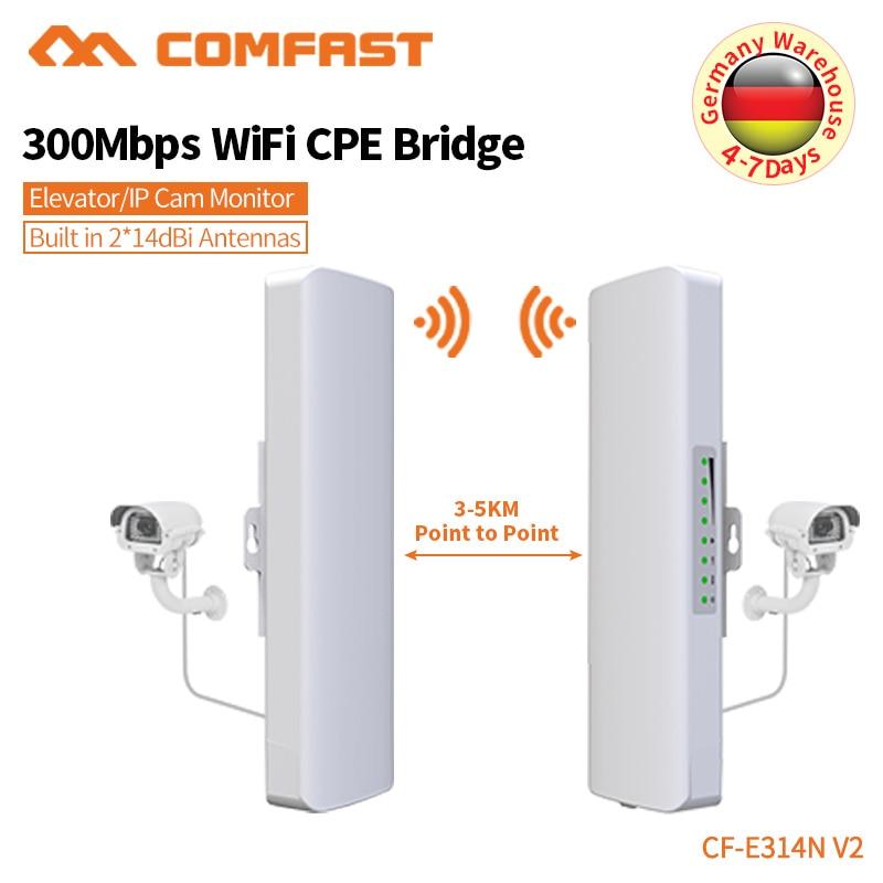 Comfast 300 Mbps couverture extérieure amplificateur de booster Siganl 2.4 Ghz 14dBi récepteur Wifi à Gain élevé pour le projet de caméra IP CF-E314N