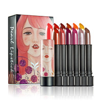 12 Colors Set HUAMIANLI Ryukin Pearly Luster Lipstick Kyliejenner Easy To Wear Long Lasting Lips Makeup