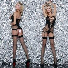 Bodystokcing Plus Size Hot Erotic Sexy Lingerie Fishnet Bodysuits Fantasias Sexuais Para As Mulheres Babydolls Underwear Lenceria QQ285