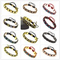 4PCS Mix Color Anil Arjandas Bracelets Macrame Braid Bracelets Square Genius Leather Zircon Mental For Men and Women Bracelets