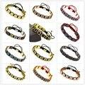 4PCS Mix Color Anil Arjandas Bracelets Macrame Braid Bracelets Square Genius Leather Zircon Mental For Men and Women Bracelets