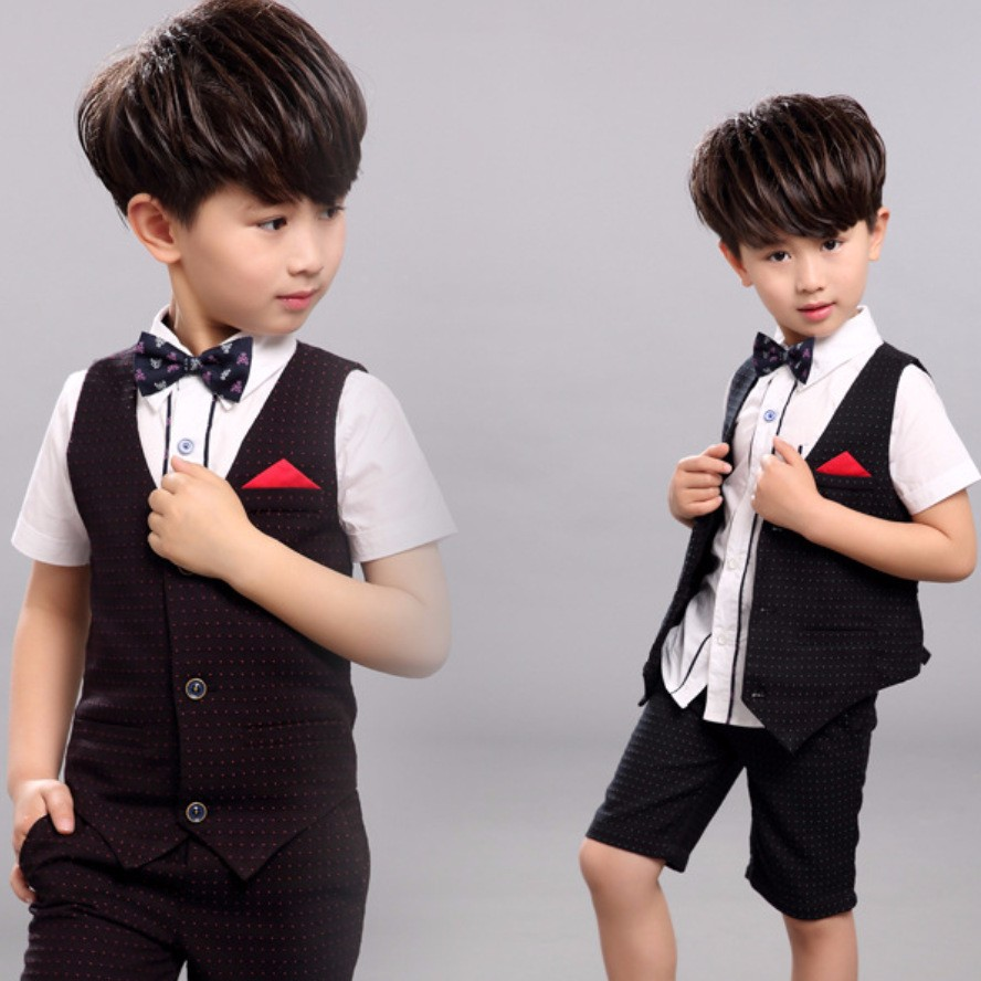2016 New Childrens Formal Sets Wedding Suits For Baby Boys Clothes Boy Birthday Dress Kids Children Clothing
