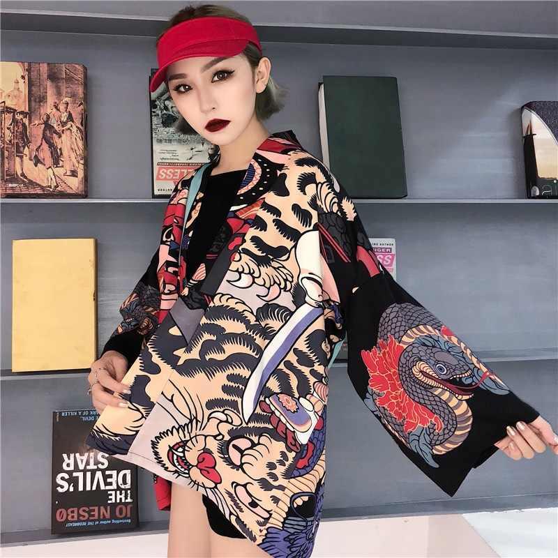 Кимоно кардиган блузка рубашка Лето пляжные кимоно женщина 2018 косплэй юката женский Оби японский уличная komono KK2451