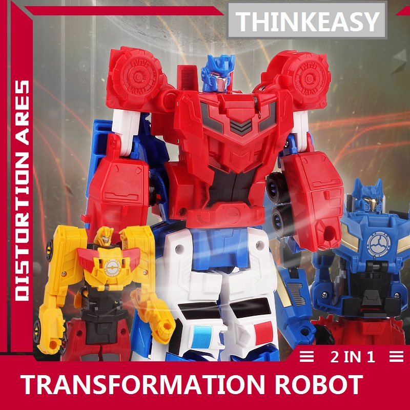 ThinkEasy 2 IN 1 With Package Transformation Robot Cars and prime Toys Action Figures Classic Toys For Kids Christmas Gifts haptic information in cars