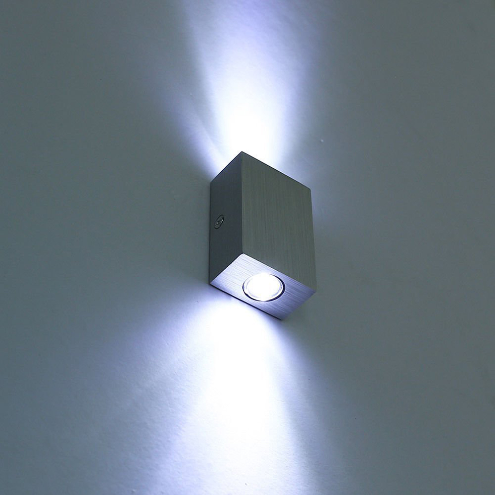 Modern 6w 2 3w led wall lamp sconce night light fixture for Fixture exterieur led