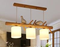 Современный минималистичный ресторан, гостиная, подвесные светильники, чайный домик, креативная деревянная лампа, Скандинавское исследова