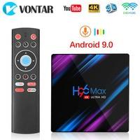 Android 9.0 TV Box Rockchip RK3318 H96 MAX 4GB RAM 64GB USB3.0 1080P H.265 4K 60fps Google Player Store Netflix Youtube H96MAX