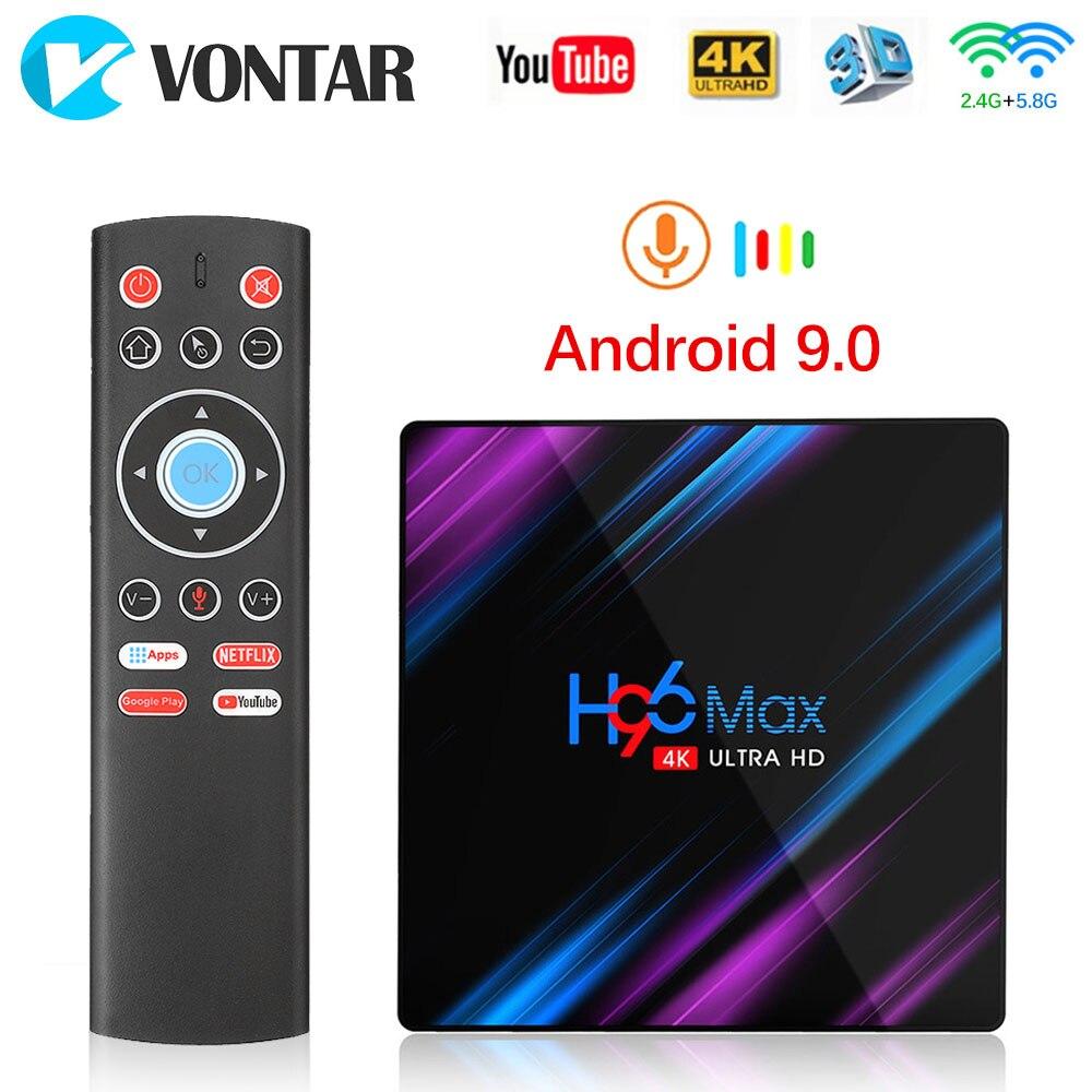 Android 9,0 TV Box Rockchip RK3318 H96 MAX 4GB 32GB 64GB USB3.0 1080P H.265 4K 60fps Google Player tienda Netflix 2GB 16GB H96MAX