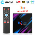 Android 9.0 TV Box Rockchip RK3318 H96 MAX 4GB RAM 64GB USB3.0 1080P H.265 4K 60fps Google Player Store Netflix Youtube H96MAX