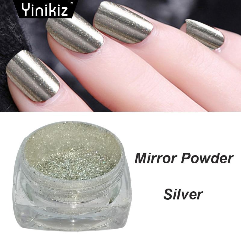 Avon Chrome Nail Powder: Yinikiz Shimmer Magic Mirror Powder Dust Glitter DIY Nail