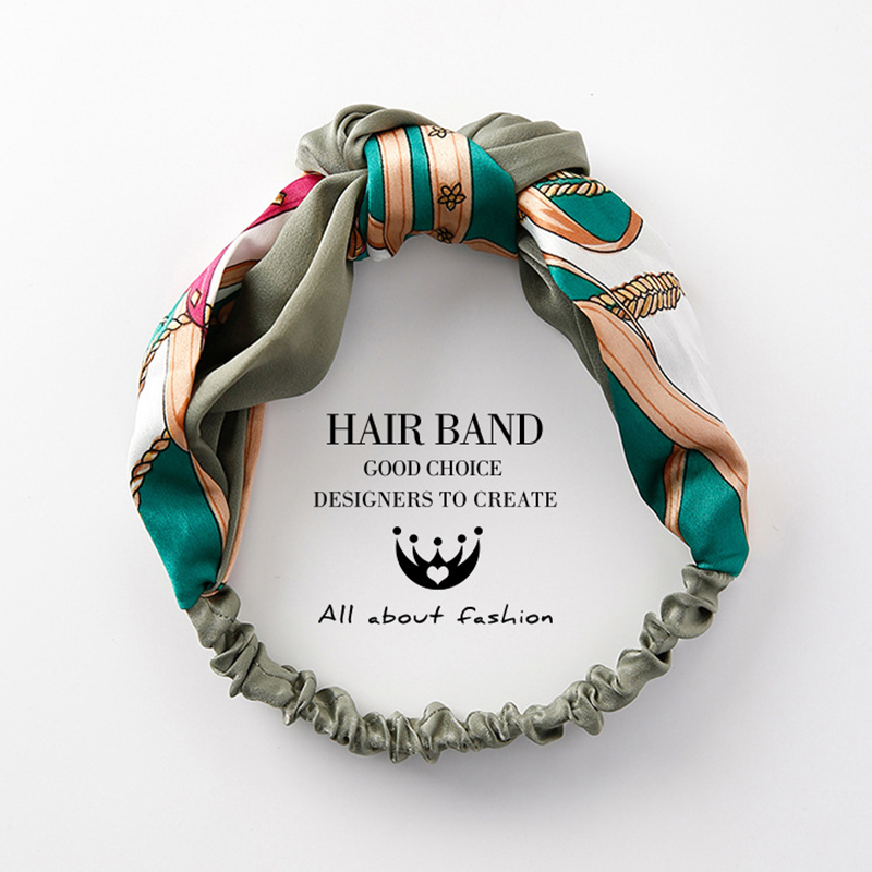 Fashion Plaid Knot Headband Turban Elastic Hairband Head Wrap Hair Accessories For Women Girls Striped Headwear Accessories