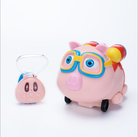 Watch remote control car pig eight spray small pig toy car intelligent electric induction toy car toy