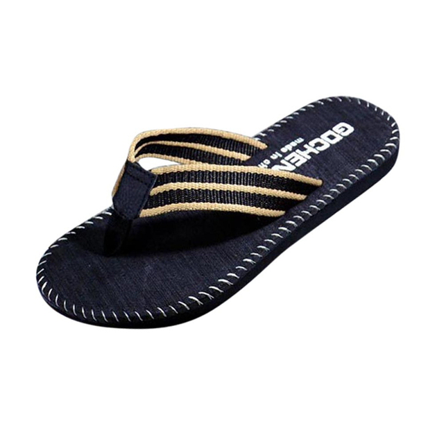 SIKETU Slipper Men Summer Stripe Flip Flops Shoes Sandals Male Slipper Flip-flops casual colorful flat Beach Home Shoes A30