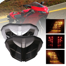 SPEEDPARK Motorcycle LED  Rear taillight Tail Brake Turn Signals Integrated Led Light Lamp For DUCATI 848 1098 1198 2007-2011