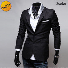 Fashion 2017 Spring Autumn Casual slim fit Cheap Suit Single Breasted brand clothing gentleman British stylish blazers Men homme