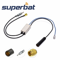 Superbat FM AM To FM AM DAB Car Radio Aerial Converter Splitter With SMA Connector For