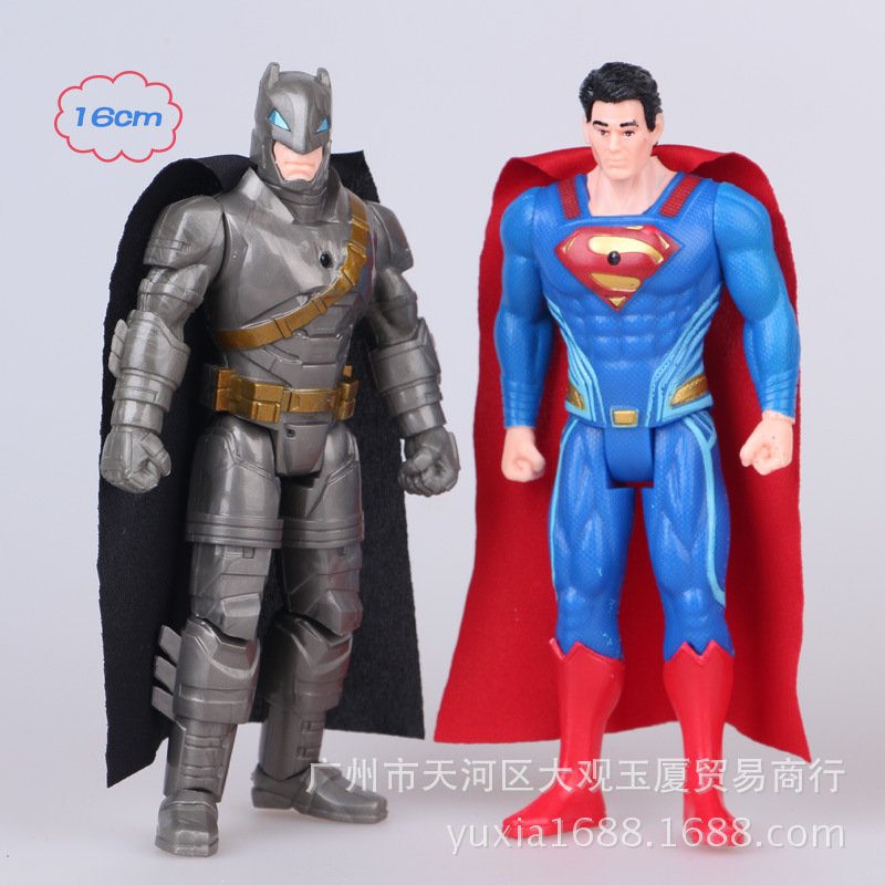 New World War 2 American Superman Batman doll ornaments decorated gift children toy birthday gifts greg pak batman superman volume 1 cross world