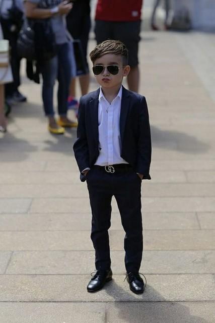 e834b628ebd0 2016 High Quality Navy Blue Kids Tuxedo Suits ( Pants +Jacket) Handsome Boys  Wedding
