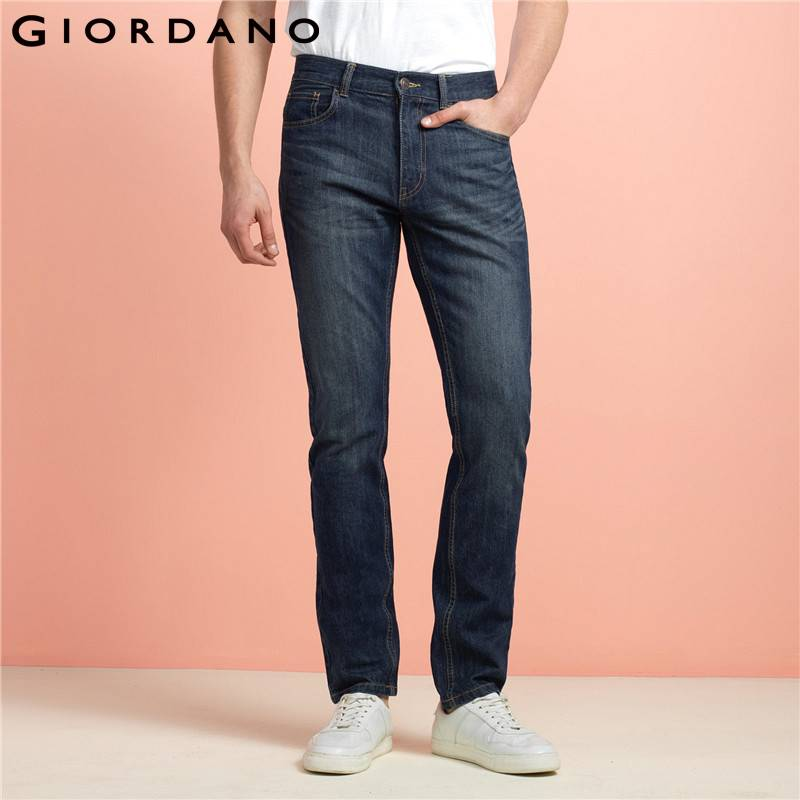 Giordano Men Pants Classic Jeans Male Denim Trousers