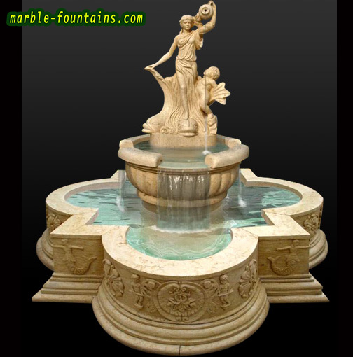 Marble Garden Fountains Sale Italian Design Yellow Marble Fountain