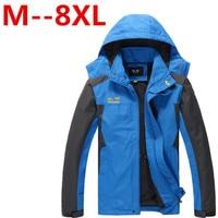 Plus Size 8XL 7XL 6XL 5XL 4XL Outdoor Men High Quality Waterproof Windproof Climbing Clothing Soft