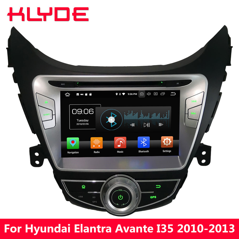 KLYDE 8 4 г Android 8,0 Octa Core PX5 4 ГБ Оперативная память 32 ГБ Встроенная память DVD мультимедиа плеер радио для hyundai Elantra Avante I35 2010-2013