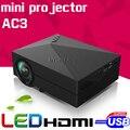 Новая Модель gM60 Домашний Кинотеатр HD 1080 P портативный Видео ЖК-ДИСПЛЕЙ VGA HDMI Кино USB AC3 Кинотеатр 3D мини СВЕТОДИОДНЫЙ Проектор Proyector Бимер