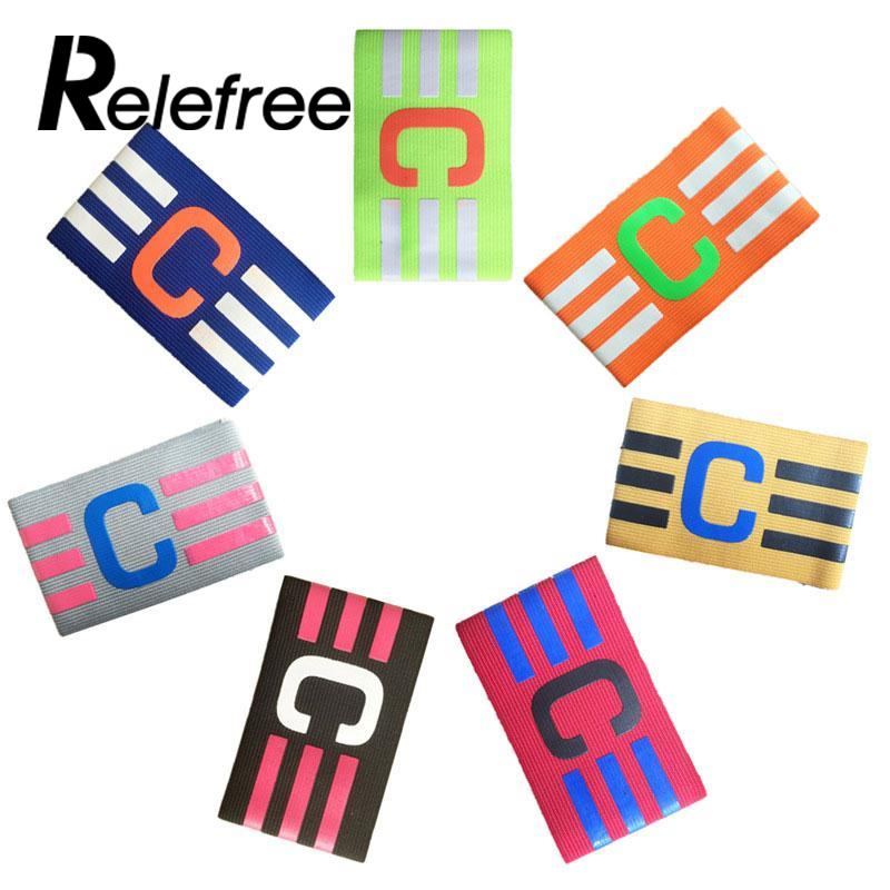 Relefree Football Captain Armband Soccer Skippers Armbands Multi Color Games Tournament