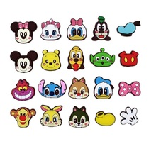 100pcs/lot Tsum Tsum PVC shoe charms shoe accessories DIY shoe decoration for croc