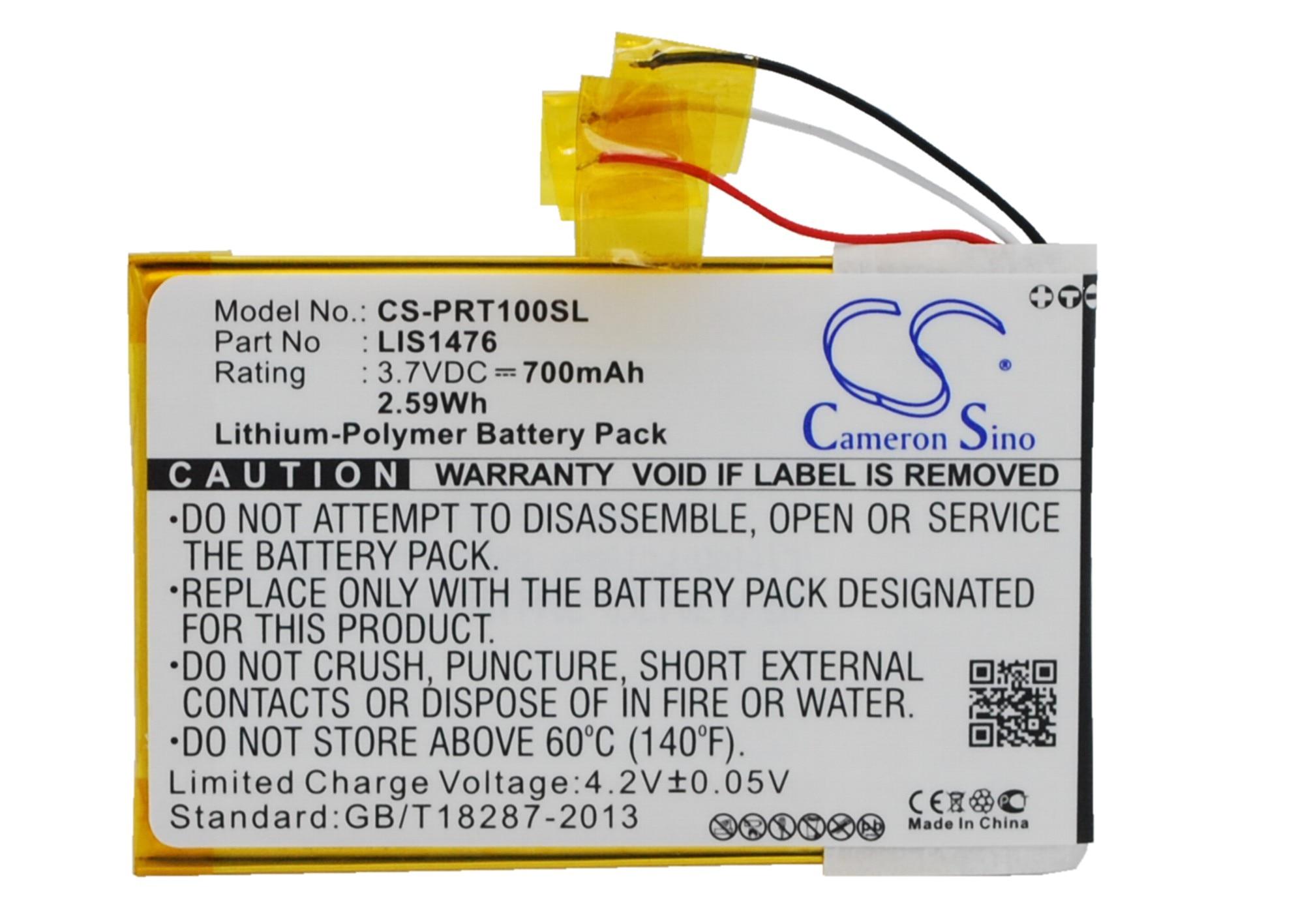 Cameron Sino 700 mAh batterie 1-853-104-11, LIS1476, LIS1476MHPPC (SY6) pour Sony PRS-T1, PRS-T2, PRS-T3, PRS-T3E, PRS-T3SCameron Sino 700 mAh batterie 1-853-104-11, LIS1476, LIS1476MHPPC (SY6) pour Sony PRS-T1, PRS-T2, PRS-T3, PRS-T3E, PRS-T3S