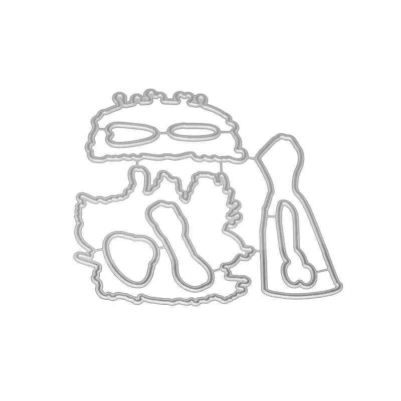 جمال النساء واللباس يموت القطع المعدنية أو المطاط الطوابع لسكرابوكينغ diy النقش قالب صانع مجلد ورقة واضحة ديكور