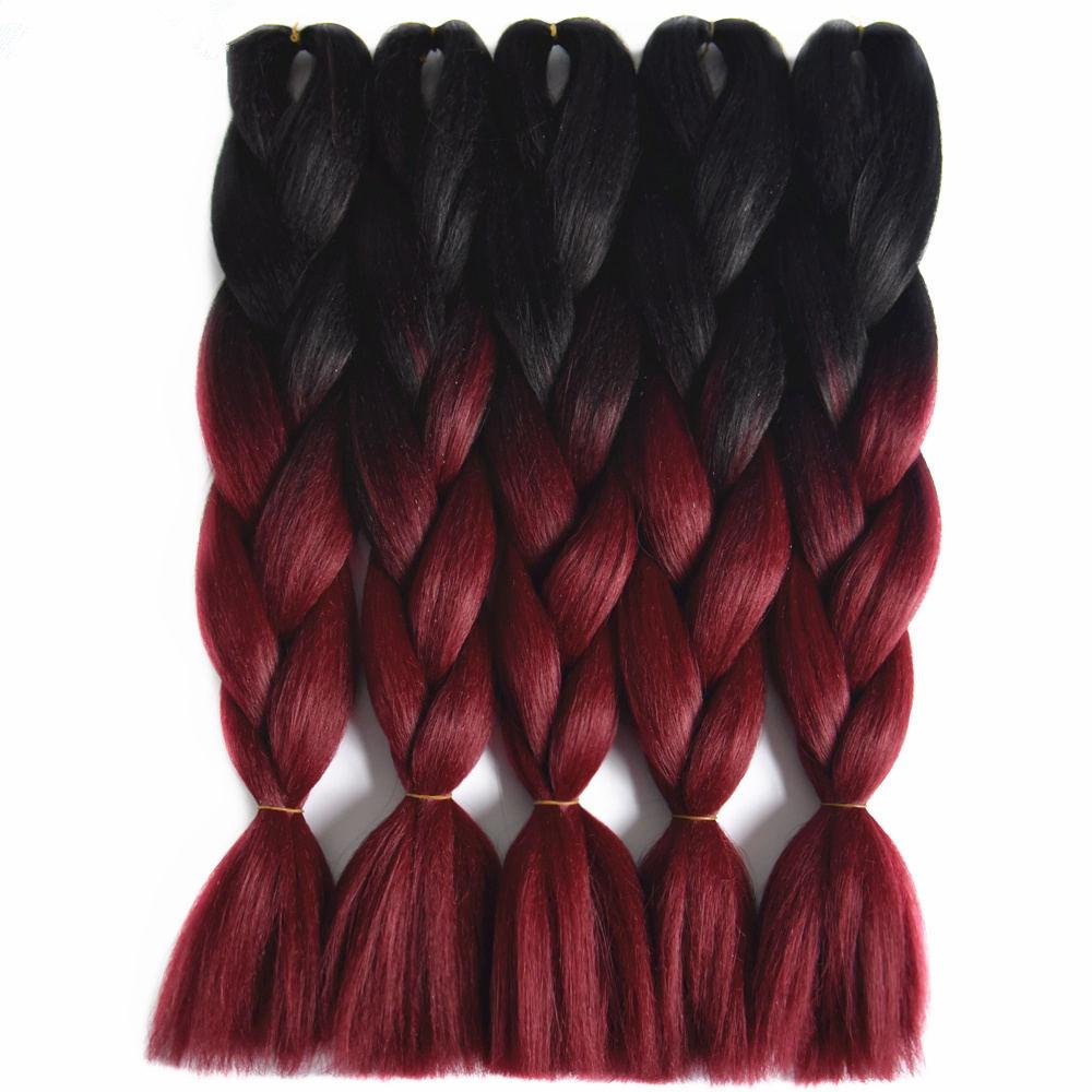 ombre braiding  hair__