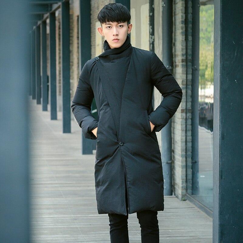 2016 Korean winter new men long slim knee long Down Jacket Mens youth coat