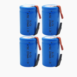 10-30PCS Ni-Cd 4/5 SubC Sub C 1.2V 2200mAh Rechargeable Battery with Tab - Blue Color Free Shipping