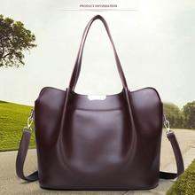 Elegant Womens PU Leather Handbag Solid Color Fashion Large-capacity Shoulder Bag Bottom Rivet Design