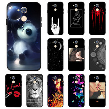 Ojeleye Fashion Black Silicon Case For Huawei Honor 6A Pro Play Cases Anti-knock Phone Cover 5C Holly 4 Covers