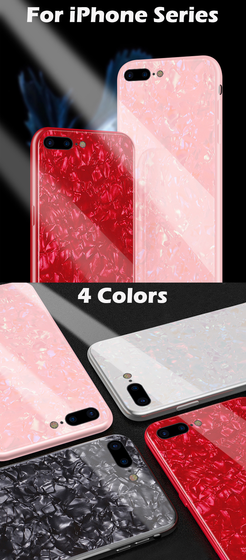 KIP7P1236_9_JONSNOW Tempered Glass Case For iPhone 6S 7 8 Plus Glossy Hard Back Cover Soft Silicone Edge for iPhone XS XR XS Max Phone Case