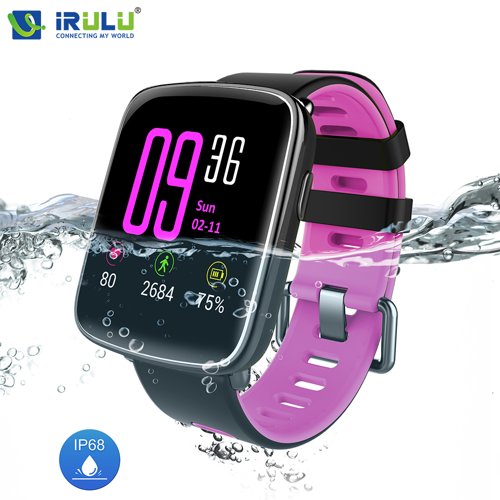 iRULU GV68 IP68 Waterproof Smart Watch Bluetooth MTK2502 Wristwatch Heart Rate Monitor Passometer for IOS Android