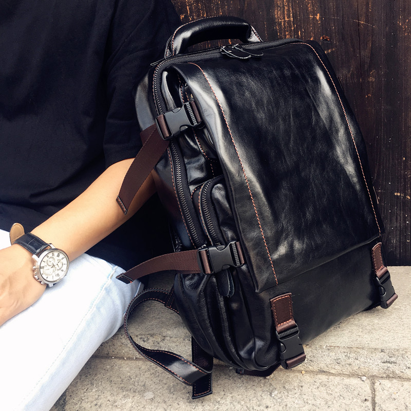 High Quality Men Genuine Leather Backpack Italian 100% Cow Leather Unisex Bag Large Capacity Casual Vintage Backpacks Mochila high quality men genuine leather backpack italian 100% cow leather unisex bag large capacity casual vintage backpacks mochila