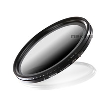 62mm ND Neutral Density Variable Filter NDX for Nikon Canon camera lens with storage container
