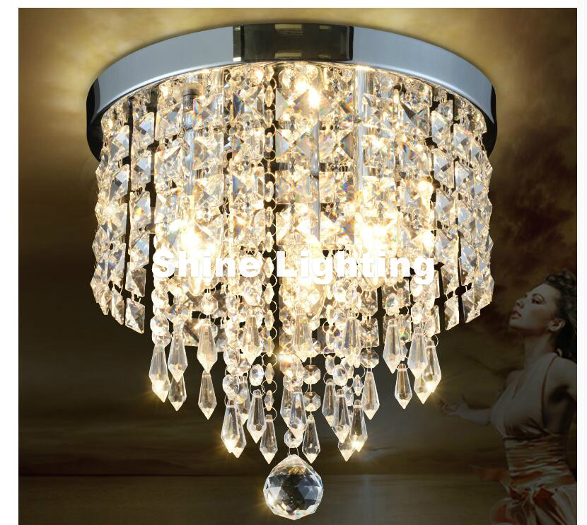 Modern Chrome Golden LED Crystal Ceiling Lamp K9 Living Room Ceiling Light Dining Room Decoration LUSTRE Crystal Lamp Lighting noosion modern led ceiling lamp for bedroom room black and white color with crystal plafon techo iluminacion lustre de plafond