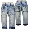 3869 0-3 años bebé niños jeans pantalones vaqueros del bebé suave del bebé boy jeans primavera pantalones luz azul kids fashion nueva muy bonita
