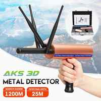 Newest AKS 3D Detective Metal Detector Underground 3 Antenna Long Range Gold Diamond Treasure Hunter Seeker Portable Detector