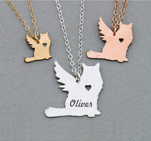Cat Memorial Necklace Pet Loss Gift Engrave Some Letters Aliexpress Top-selling Accept Drop Shipping YP6066